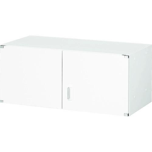 ■TRUSCO U型壁面書庫 両開き H380 W色〔品番:UHW-4〕[TR-7658079]