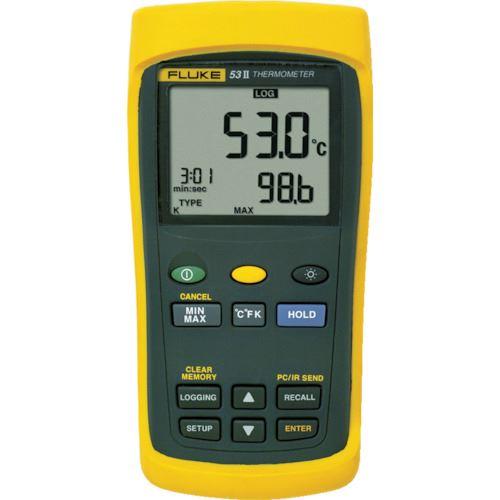 ■FLUKE 温度計(ロガー機能付・1チャンネル)  〔品番:53-2B〕[TR-7693311]