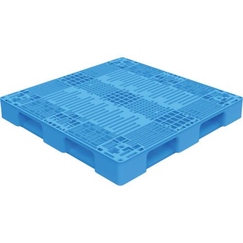 ■TRUSCO TMSC型樹脂パレット 1100X1100 青〔品番:TMSC-P1111-B〕[TR-7698151]【個人宅配送不可】