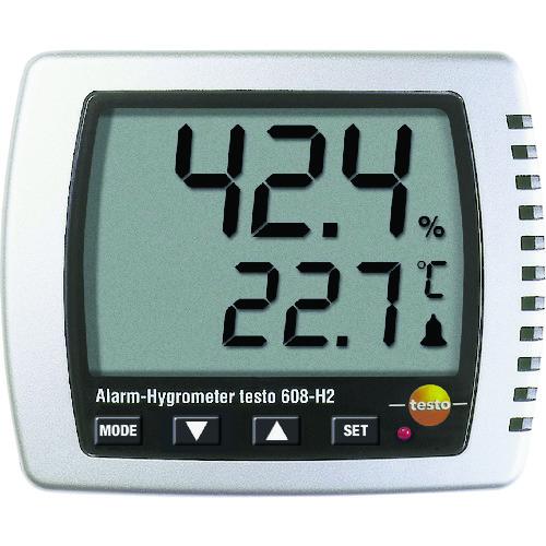 ■テストー 卓上式温湿度計(LEDアラーム付)  〔品番:TESTO608-H2〕[TR-7736886]