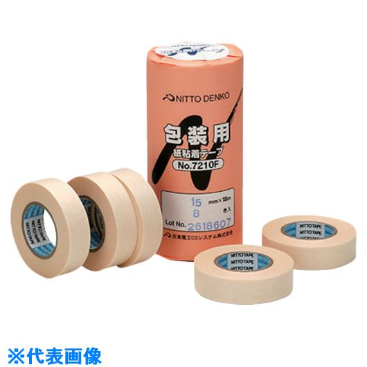 ■日東電工CS 包装用紙粘着テープNO.7210F 30mmX18m ホワイト《400入》〔品番:7210F-30〕[TR-7815701×400]