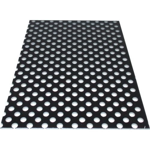 ■アルインコ アルミ複合板パンチ 3X1820X910 ブラック〔品番:CG91P-11〕[TR-7849893]【大型・重量物・個人宅配送不可】