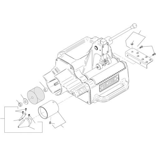 ■RIDGID リーマー ガード F/122J〔品番:94747〕[TR-7884141]