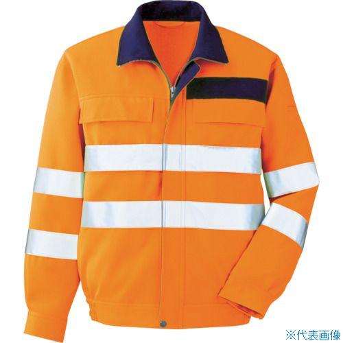 ■ミドリ安全 高視認 ブルゾン オレンジ L〔品番:VE〕[TR-7949669]