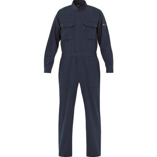 ■ミドリ安全 ベルデクセル 綿100% 帯電防止ツナギ服 ネイビー 3L  〔品番:VE167-3L〕[TR-7980680]