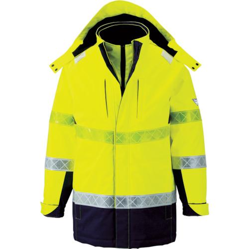 ■ジーベック 801 高視認防水防寒コート 3L イエロー  〔品番:801-80-3L〕[TR-7996322]