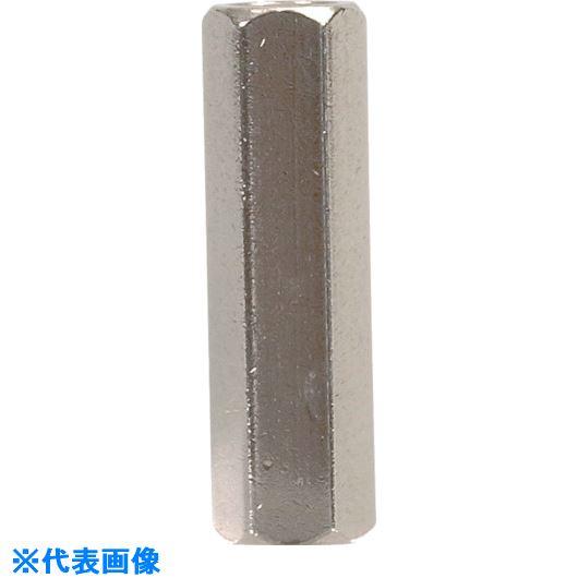 ■テイシン 黄銅スペーサー SBA-M5 メス-メス 100個入 ネジ径M5 全長80〔品番:SBA-580-E〕[TR-8068427]