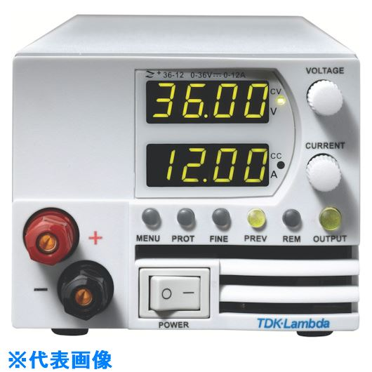 ■TDKラムダ 超小型高電力密度CVCC可変電源Z+ 前面出力ジャック有 400W〔品番:Z20-20-L-J〕[TR-8069552]