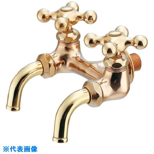 ■カクダイ 双口ホーム水栓〔品番:705-014-13〕[TR-8075258]