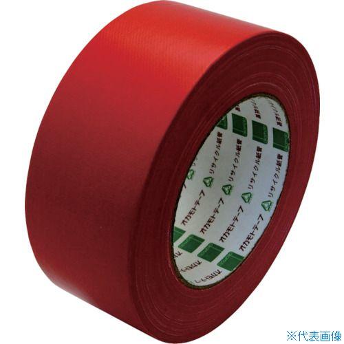 ■オカモト 布テープ NO111カラー 赤 50ミリ シュリンク包装《30巻入》〔品番:111R50S〕[TR-8080958×30]