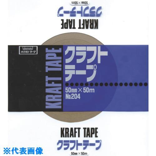 ■オカモト クラフトテープ NO204 60ミリ シュリンク包装《40巻入》〔品番:20460S〕[TR-8080981×40]