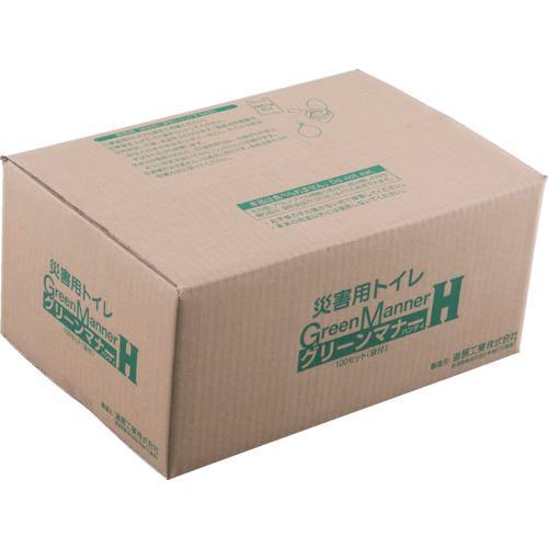 ■KAKURI もみがら炭入り簡易トイレ グリーンマナー 100袋セット  〔品番:4566〕[TR-8085568]
