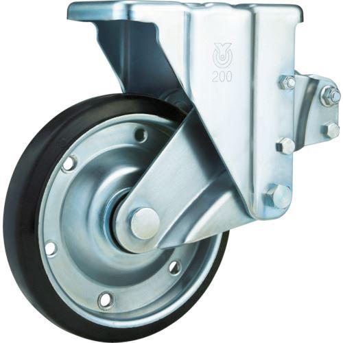 ■ユーエイ 重荷重用クッションキャスター 200径 固定ゴム車輪〔品番:SKY-R200WF〕[TR-8093309]【個人宅配送不可】