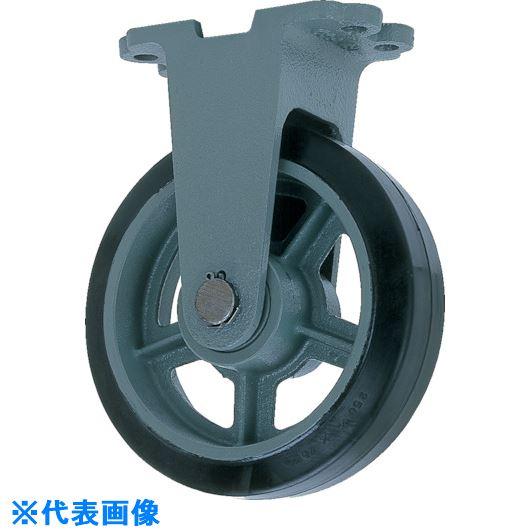 ■ヨドノ 鋳物重荷重用ゴム車輪固定車付き HBーk410X75〔品番:HB-K410X75〕[TR-8094034]【個人宅配送不可】