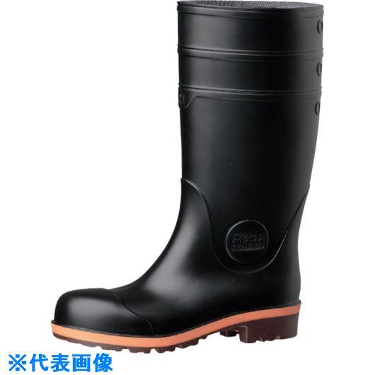 ■ミドリ安全 小指保護先芯入り安全長靴25.5 21400062  〔品番:PW1000-BK-25.5〕[TR-8112354]