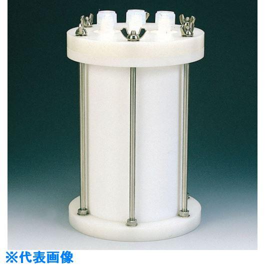 (株)フロンケミカル スクレーパー  ■フロンケミカル フッ素樹脂 装置用円筒型容器A型 5000CC〔品番:NR0118-003〕[TR-8115276]