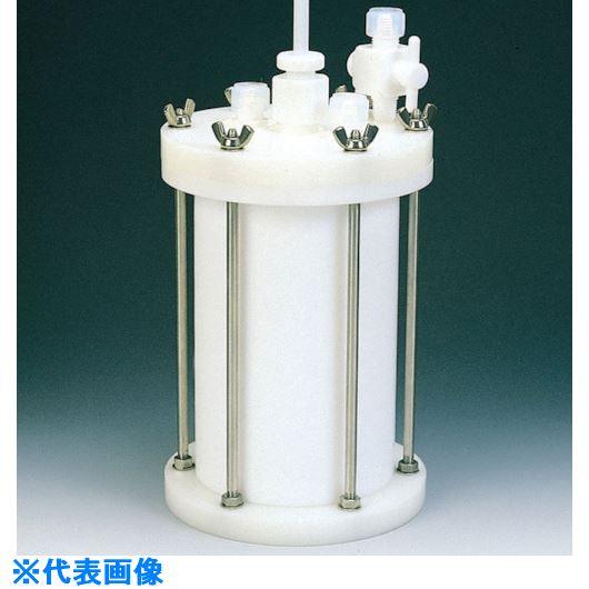 ■フロンケミカル フッ素樹脂 装置用円筒型容器C型 5000cc〔品番:NR0120-003〕[TR-8115286]