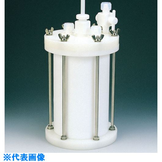 ■フロンケミカル フッ素樹脂 装置用円筒型容器C型 10000cc〔品番:NR0120-004〕[TR-8115287]
