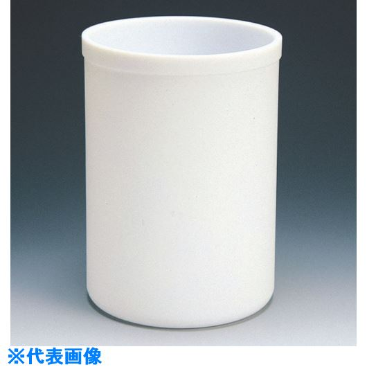■フロンケミカル フッ素樹脂(PTFE)  円筒型容器 5L〔品番:NR0160-004〕[TR-8115315]