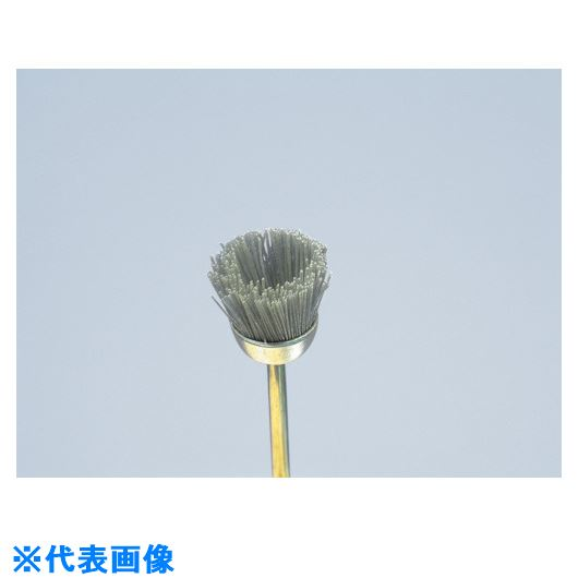 ■ヤナセ 精密カップブラシ ダイヤ砥粒入りユニロン 25x15x3x30#400《10個入》〔品番:B25CD〕[TR-8123551×10]