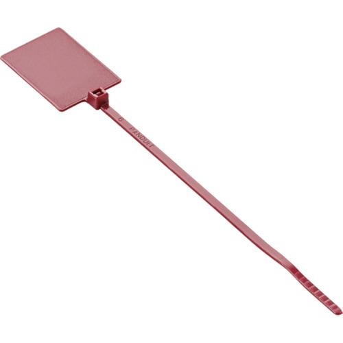 ■パンドウイット 旗型タイプナイロン結束バンド 赤 (1000本入)  〔品番:PLF1MA-M2〕[TR-8146442]