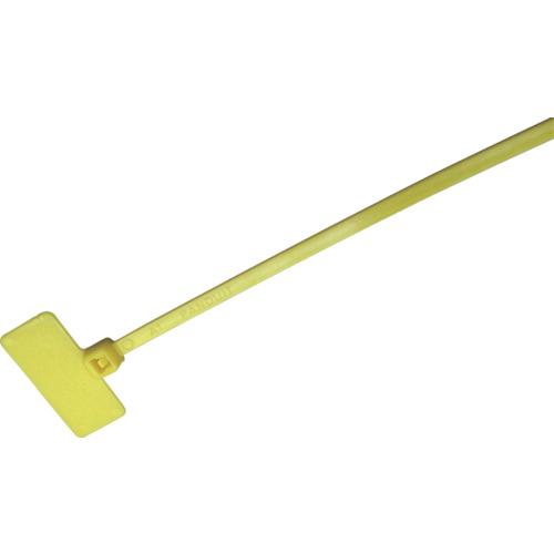 ■パンドウイット 旗型タイプナイロン結束バンド 黄 (1000本入)  〔品番:PLF1M-M4Y〕[TR-8146449]