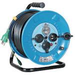■日動 防雨型漏電遮断器付電工ドラム2〔品番:NPW-EB23〕[TR-8147394]