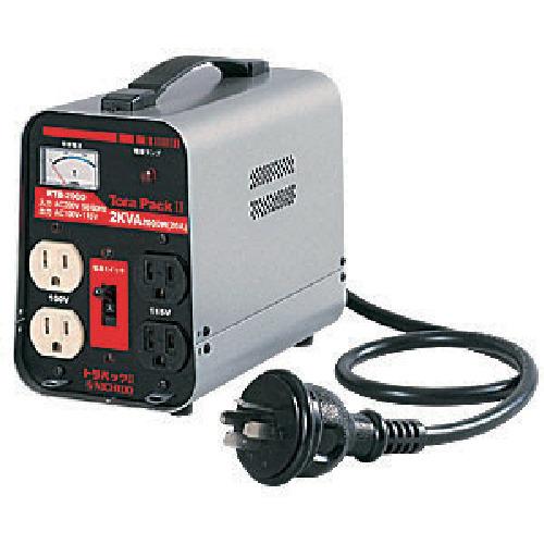 ■日動 変圧器 降圧専用トラパック リングトランス 2KVA  〔品番:RTB-200D-100V〕[TR-8147399]