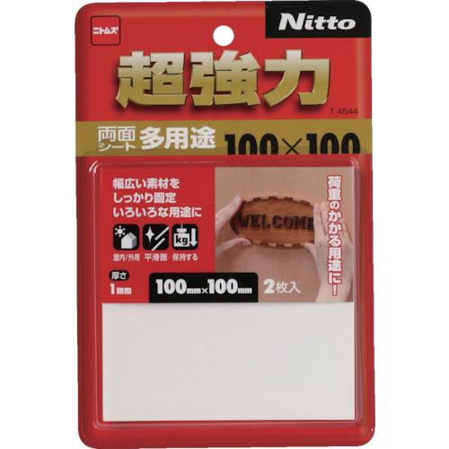 ■ニトムズ 超強力両面テープ多用途100×100 100巻入 〔品番:T4544〕[TR-8147562×100]