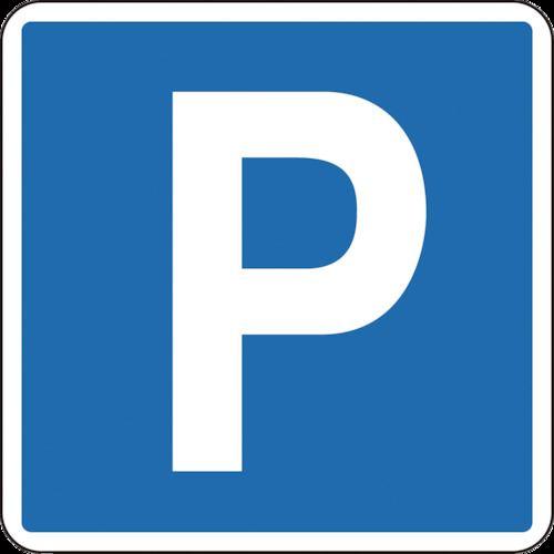 ■緑十字 路面用標識 P(駐車可・駐車場) 600×600MM 軟質塩ビ 裏面糊付  〔品番:101111〕取寄[TR-8149220]