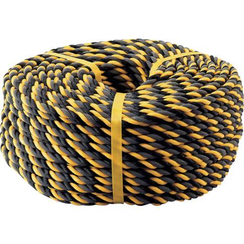 ■緑十字 反射トラロープ(標識ロープ) 黄/黒 12MMΦ×100M ポリエチレン  〔品番:285003〕[TR-8151525]