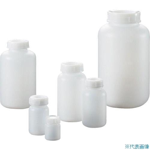 ■サンプラ PE広口瓶 1L  (50本入)〔品番:2086〕[TR-8162600]【大型・重量物・個人宅配送不可】