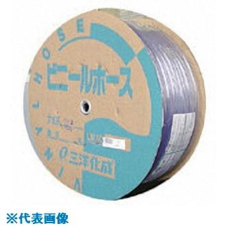 ■サンヨー 透明ホース8×12 100Mドラム巻  〔品番:TM-812D100T〕[TR-8163778]