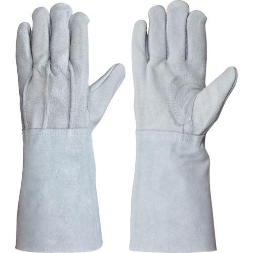 ■シモン 牛床革手袋 背縫い当付 107AK袖17CM 10双入 〔品番:107AK〕[TR-8165958×10]