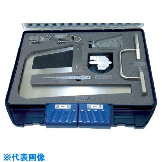 ■シンワ 鉄骨精度測定器具7点セット  〔品番:TKS-7〕[TR-8166730]【個人宅配送不可】