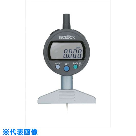 ■テクロック デジタルデプスゲージ 測定範囲12MM〔品番:DMD-2100J〕[TR-8167844]