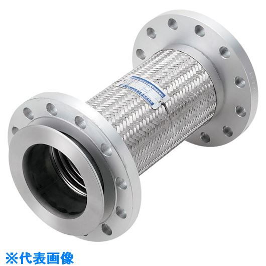 ■NFK 加圧送水装置用 20Kタイプフレキ 継手SS400 40Ax400L〔品番:NK9520-40-400〕[TR-8172710]