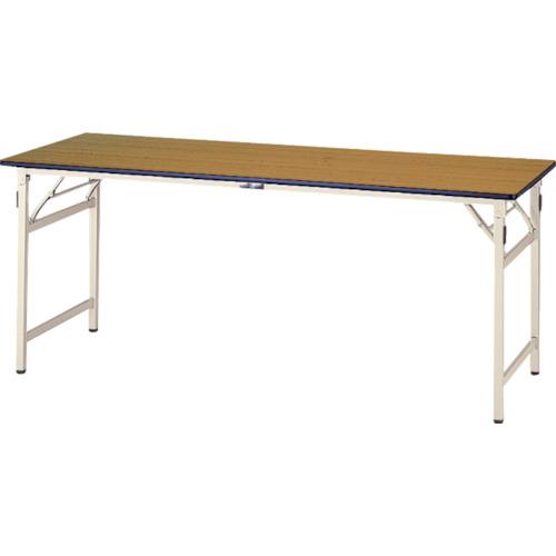 ■ヤマテック ワークテーブル 折りたたみタイプ〔品番:STP-975-MI〕[TR-8178174]【大型・重量物・個人宅配送不可】