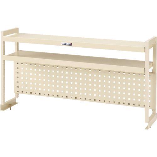 ■ヤマテック ワークテーブル架台 棚板2段+パンチングパネルタイプ〔品番:WKP2-900-IV〕[TR-8178383]【個人宅配送不可】