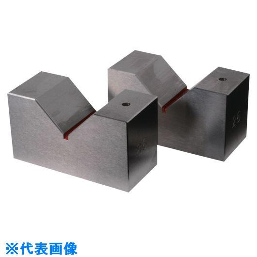 ■RKN 鋼硬製Vブロック 全長150MM×V幅76MM 2個1セット  〔品番:RSV-150〕外直送元[TR-8182831]【個人宅配送不可】