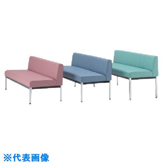 ■ミズノ 長椅子W1200×D580×H640×SH385 ブルー  〔品番:MC1812-SH385-B〕[TR-8186186]