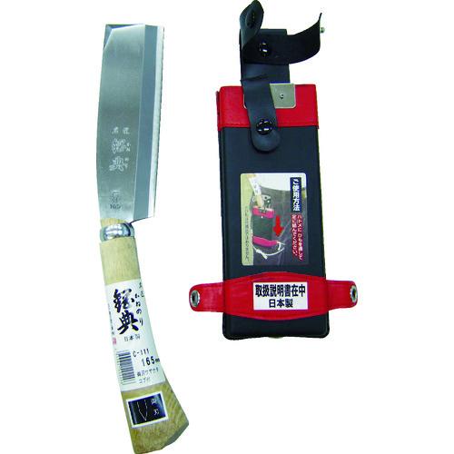 五十嵐刃物工業 斧 鉈 ■鋼典 両刃サヤナタ 40%OFFの激安セール 品番:C111 TR-8188047 木鞘完全包装 再再販 コブ付柄