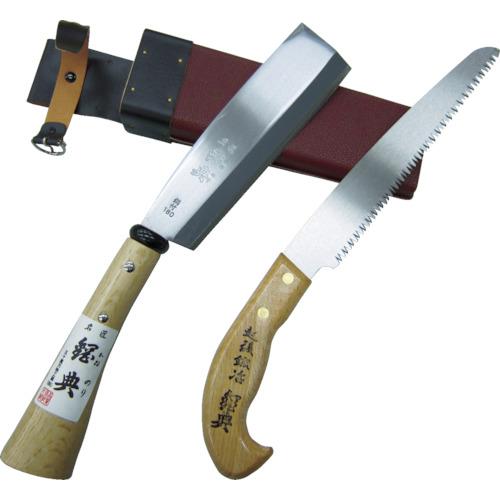 ■鋼典 ナタ、ノコ2丁差 180mm鉈 210mm鋸〔品番:C-50〕[TR-8188050]