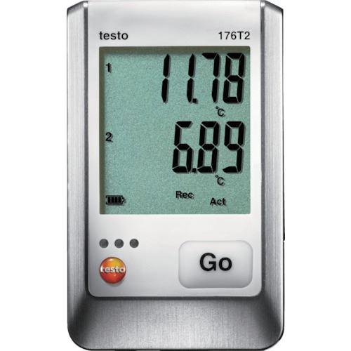 ■テストー 温度データロガ ディスプレイ付 PT100(外付)2点  〔品番:TESTO176T2〕[TR-8193709]