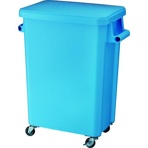 ■リス 厨房用キャスターペール70L 排水栓付 ブルー〔品番:GGYK006〕[TR-8194058]【大型・重量物・個人宅配送不可】