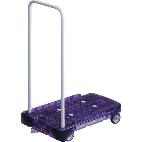 ■TRUSCO 樹脂台車 アクロキャリー PC製 省音車輪 600X390 バイオレット透明 S付〔品番:AC-1PC-VI-S〕[TR-8194963]