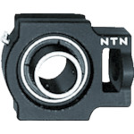 ■NTN G ベアリングユニット(円筒穴形止めねじ式)内輪径85mm全長260mm全高198mm〔品番:UCT217D1〕[TR-8197191]