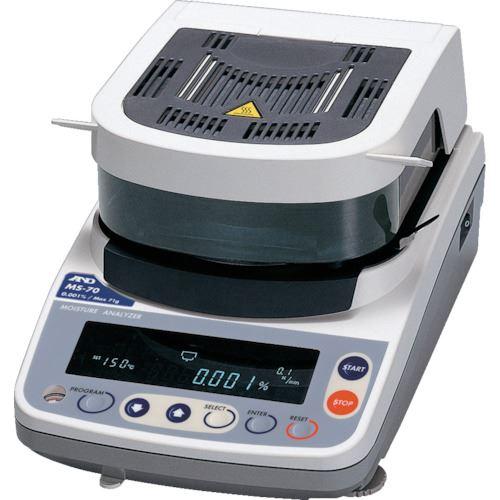 ■A&D 加熱乾燥式水分計 最小質量表示0.0001G  〔品番:MS-70〕[TR-8199651]