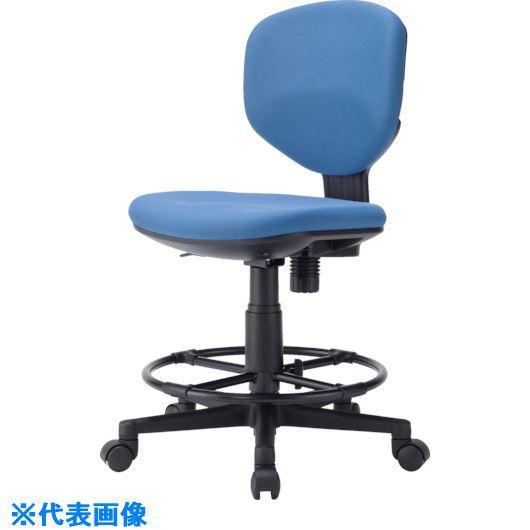 ■アイリスチトセ 回転椅子BIT-EX43ハイタイプ ブルー〔品番:BIT-EX43LH-F-BL〕[TR-8206548]