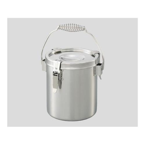 ■AS ステンレス小型密閉容器2L  〔品番:2-9550-02〕[TR-8213239][送料別途見積り][法人・事業所限定][掲外取寄]